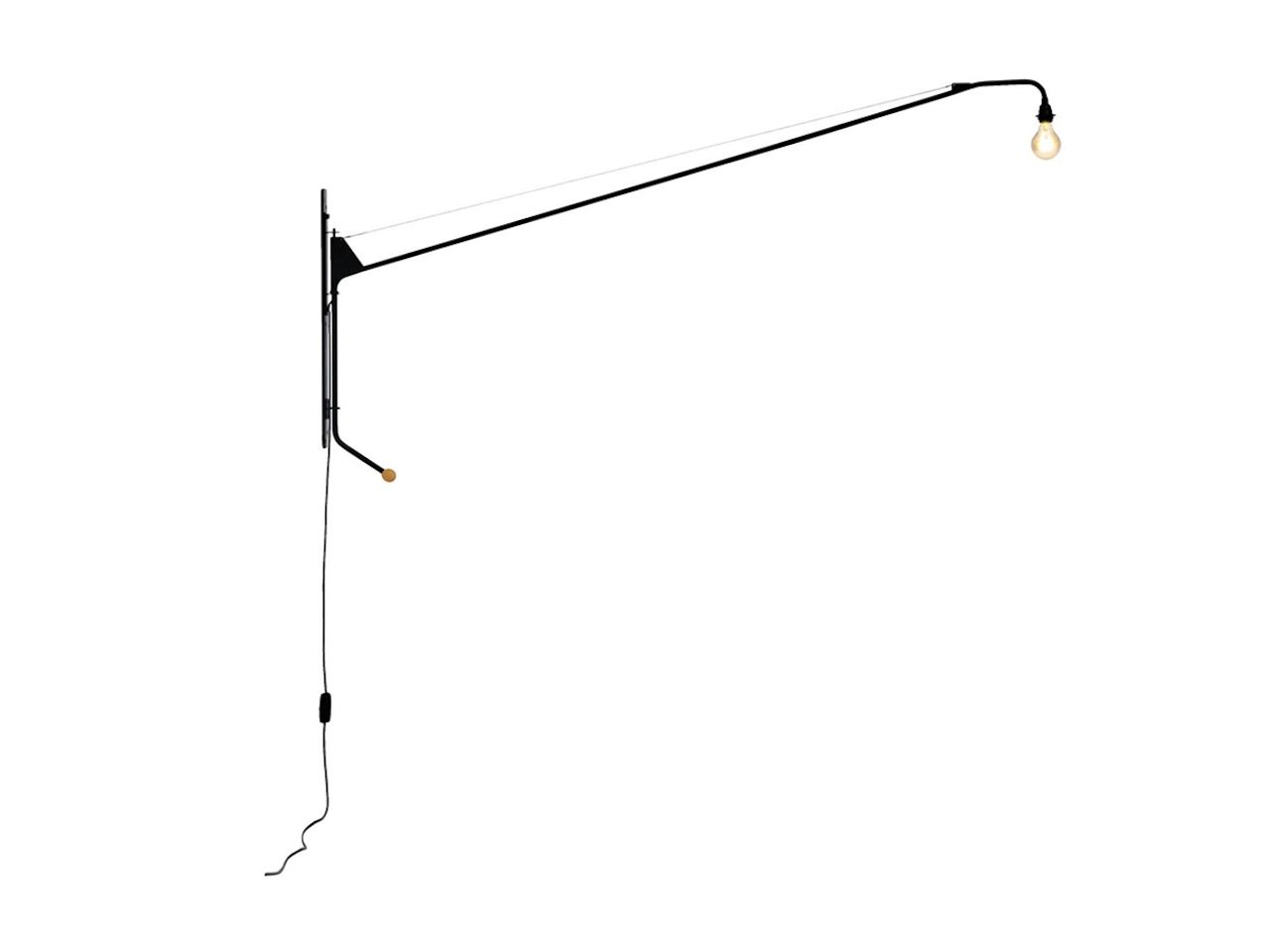 Jean Prouve Wall Lamp 2 Meter Arm Homage
