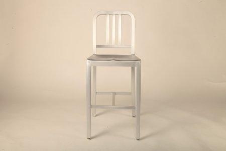 Navy Back stool (Mid)