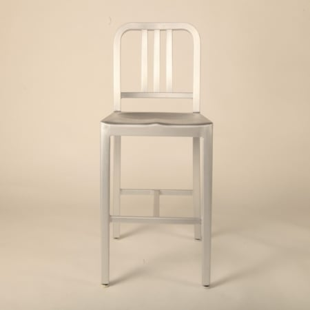 Navy Back stool (Mid)