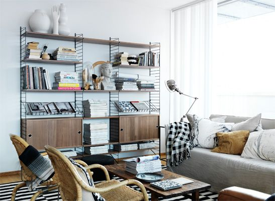 string shelving system homage. Black Bedroom Furniture Sets. Home Design Ideas