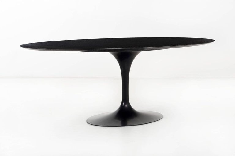Tulip Oval Marble Dining table & Tulip Oval Marble Dining table - Homage