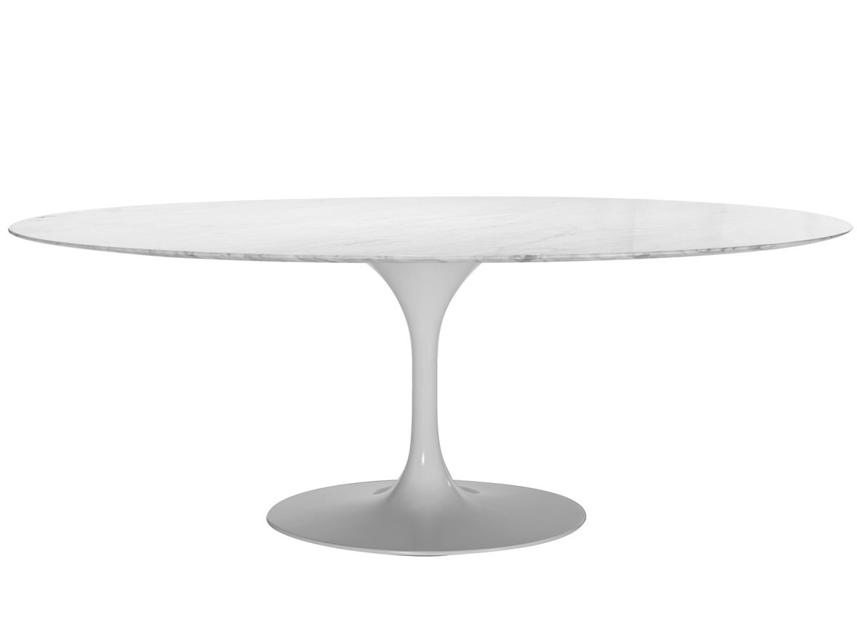Tulip Oval Marble Dining Table Homage