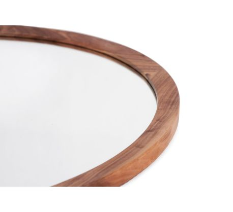 Mira D Rectangle Mirror Leather Handle